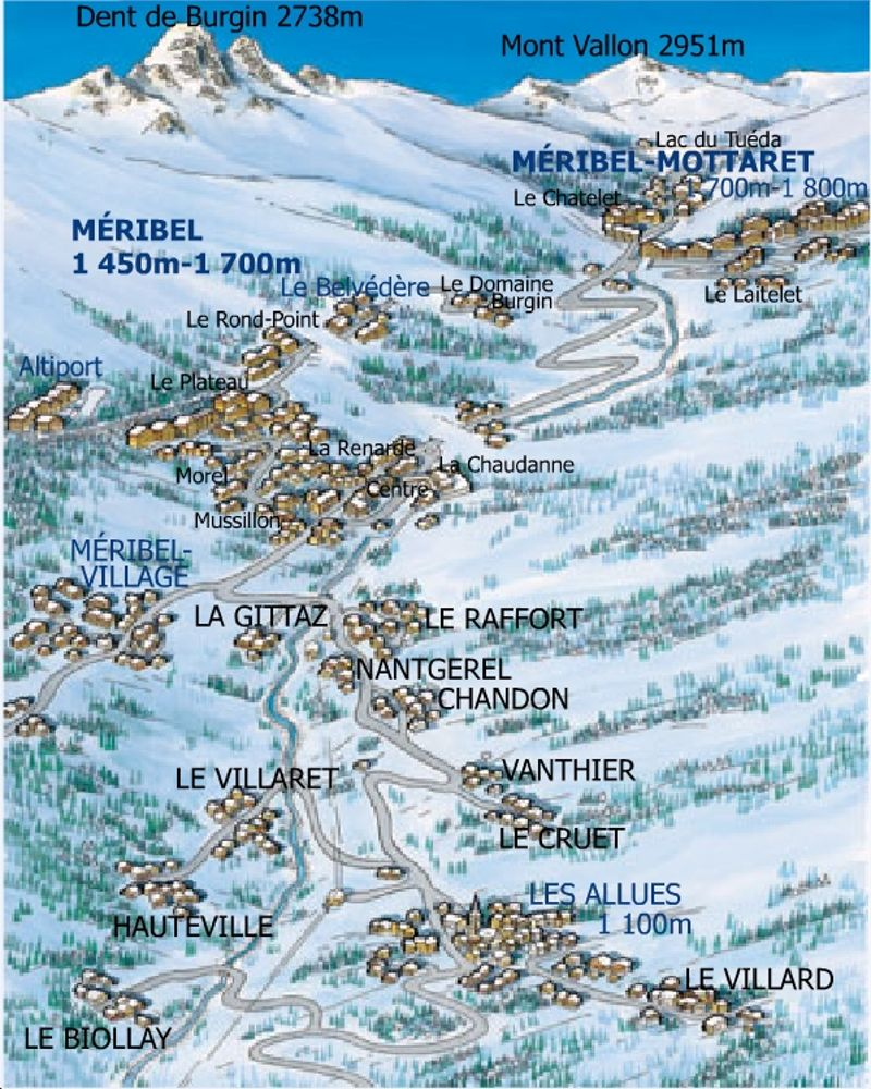 carte de meribel